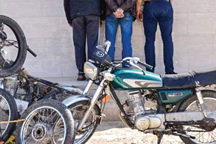 دستگیری باند سارقان موتورسیکلت در شیروان,