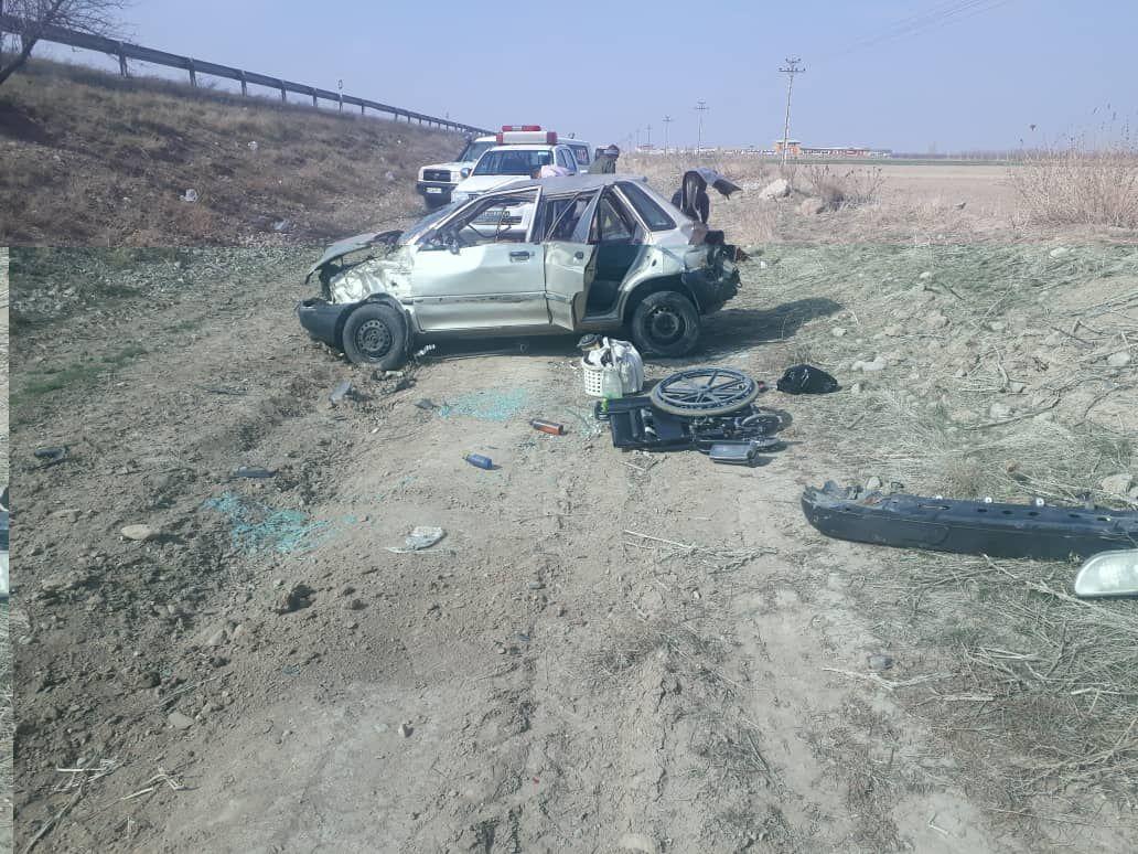 ٢مصدوم در حادثه رانندگی در محور قوچان - فاروج ,