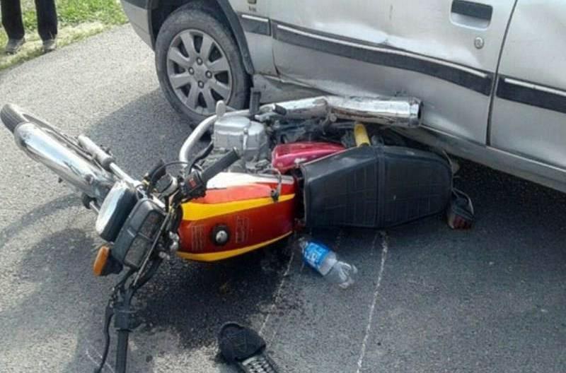 برخورد پراید با موتورسیکلت 2 قربانی گرفت  ,