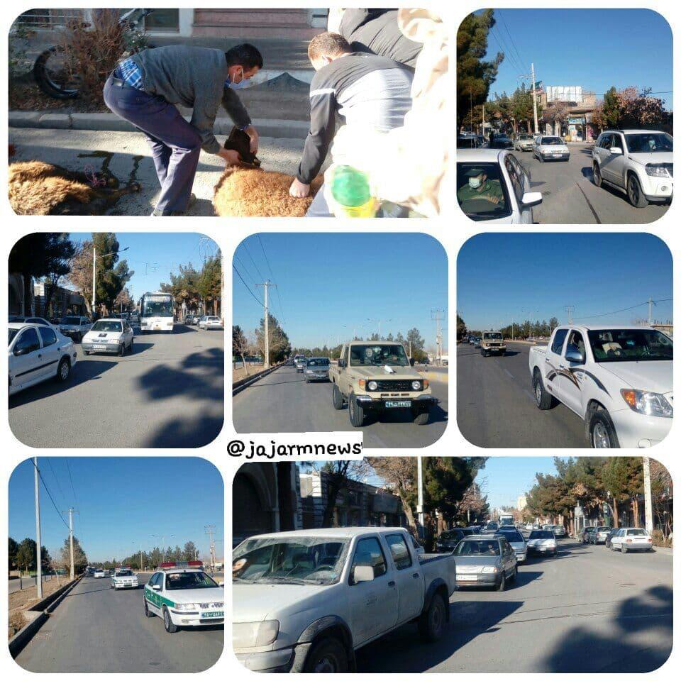 برگزاری رژه خودرویی به مناسبت سالروز شهادت شهیدسلیمانی در جاجرم