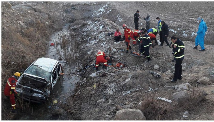 واژگونی پراید یک کشته و 5 مصدوم برجا گذاشت,