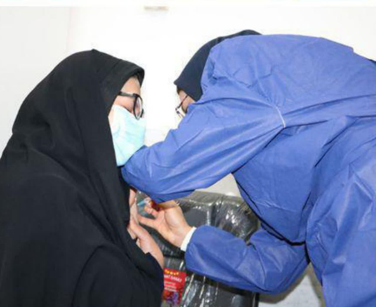 مرحله دوم واکسیناسیون کرونا در اسفراین انجام شد