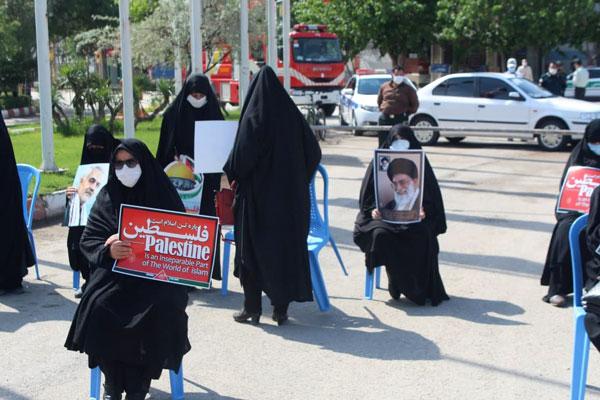 برگزاري مراسم روز قدس در بجنورد و اهتزاز پرچم فلسطین در شهر