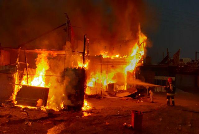 آتش سوزی در دامداری تلفات بر جای گذاشت