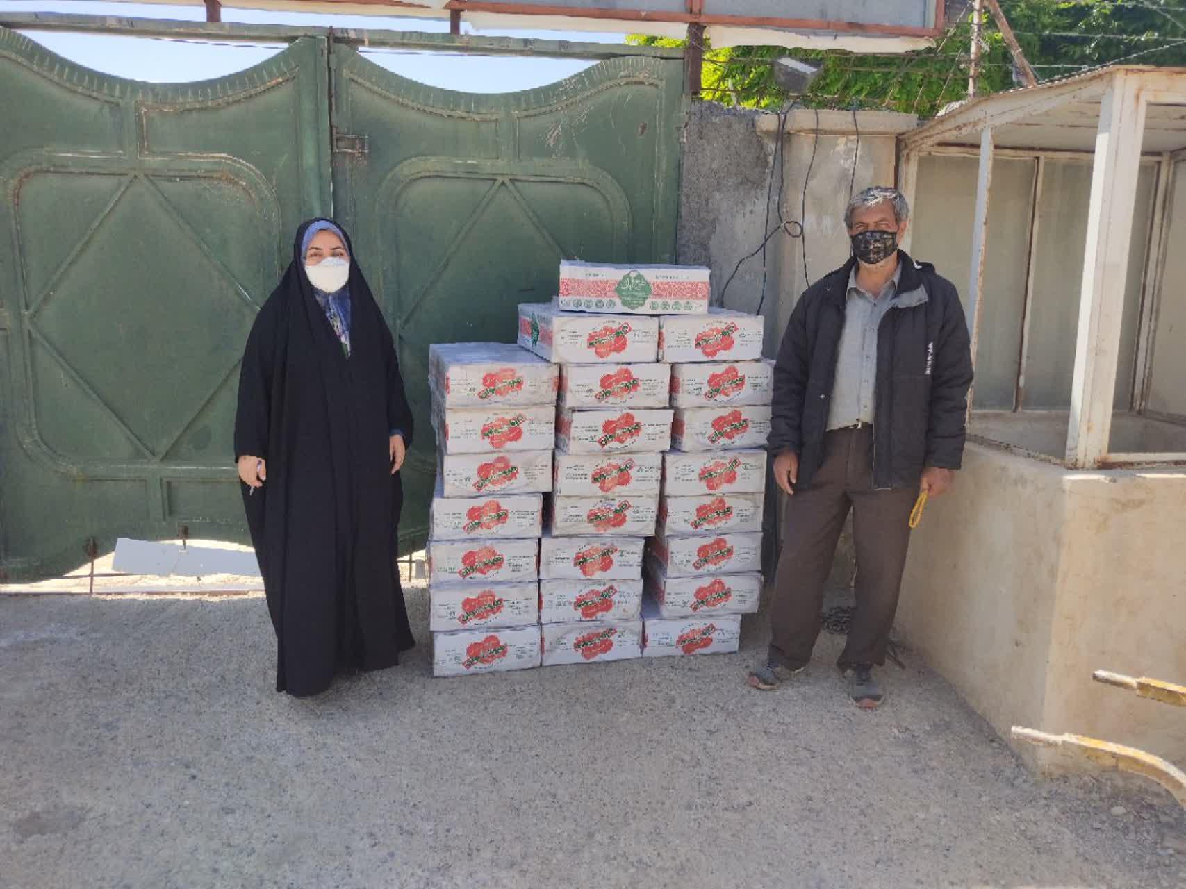 توزيع 200 بسته معيشتي در بین نیازمندان شوقانی