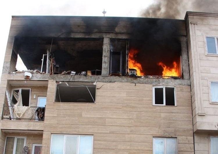 تخریب کامل دو واحد آپارتمان و مصدومیت 2 نفر در انفجار منزل مسکونی در بجنورد
